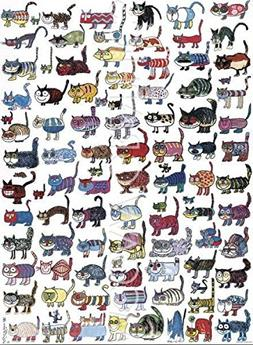 100 Cats And A Mouse Poster Print Art Poster Print by Vittor