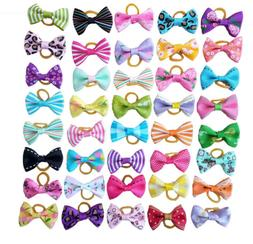 10Pcs Assorted Hair Bows For Small Dog Cat Pet Puppy Bowknot