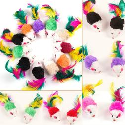 10pcs False Mouse Pet Cat Toys Funny Playing Toy For Cats wi
