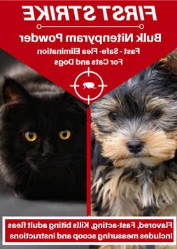 166 Doses Oral Powder for Cats and Dogs Bulk Flea Killer 1 G