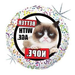 "18"" Grumpy Cat Better With Age - Nope Foil Mylar Balloon"