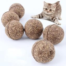 1PC Pet Cat Toys Natural Catnip Healthy Funny Treats Ball Fo