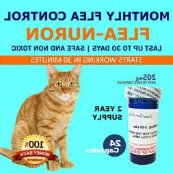 2 YEAR SUPPLY Monthly Flea Control for CATS 2-20 Lbs. 24 Cap