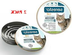 2 Pack Bayer Seresto Flea and Tick Collar for Cats Up to 18