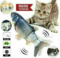 2020 moving catnip fish toys for cats