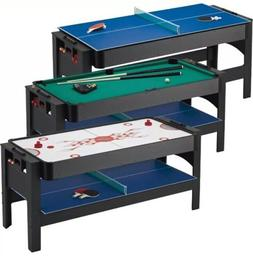 Fat Cat 3-in-1 Flip Pool Billiard Table Tennis Air Hockey Ga
