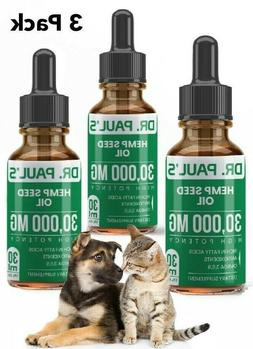 3 Pack Hemp Seed Oil for Dogs ,Cats , Pet Pain Relief, Stres