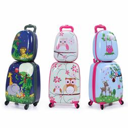 Kids Suitcase Carry On Luggage 2Pc Set w/Wheels Kids Rolling