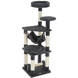 """Ollieroo 52""""H Cat Tree Tower Condo Furniture Scratching Post"""