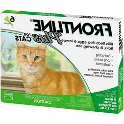 6 Doses Frontline Plus Cat Flea and Tick Remedy For Cats for