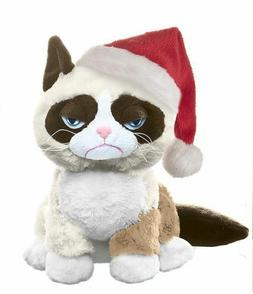 "Ganz 8"" Grumpy Cat Sitting with Christmas Hat NEW w mfg tag"