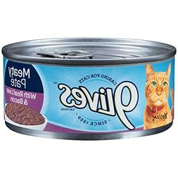 9 Lives Liver and Bacon Dinner Ground Entree Cat Food, 5.5 O