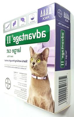 Bayer Advantage II 4 Pack for Large Cats Over 9 lbs Genuine