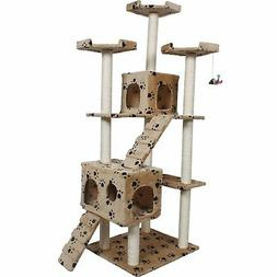 "Cat Tree For Large Cats 72"" Scratching Post Furniture Climbi"
