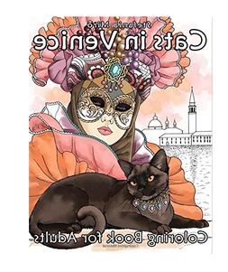 Cats in Venice: Coloring book for adults Paperback r