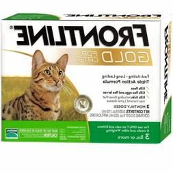 FRONTLINE GOLD FOR CATS AND KITTENS OVER 3 LBS 3 DOSES PLUS