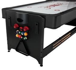 Fat Cat 7 Foot Pockey Table 2 in 1 Games Billiards Air Hocke