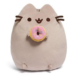 GUND Pusheen Snackables Donut Cat Plush Stuffed Animal, Gray