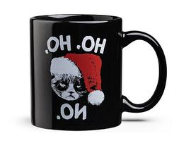 Grumpy Cat Ho Ho No Black Ceramic Mug