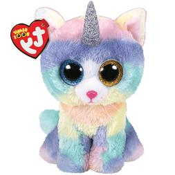 New! 2018 Summer Release Ty Beanie Boos HEATHER tie dyed Cat