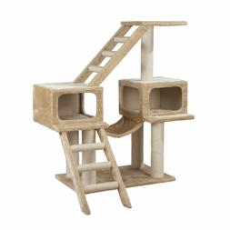 Playground That Is Amazing For Multiple Cat Homes Beige 17.5