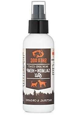 Shed Dog Inc. Salmon & Hemp Oil Spray for Dogs & Cats Skin &