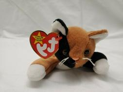 TY Beanie Baby CHIP the Calico Cat Plush Stuffed Animal NWT