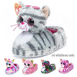 TY Beanie Boos Kids Girls Big Head Kiki Cat Non Skid Plush S