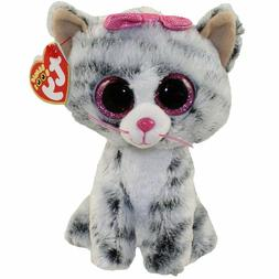 "TY Beanie Boos 6"" KIKI the Grey Cat Plush Stuffed Animal Toy"