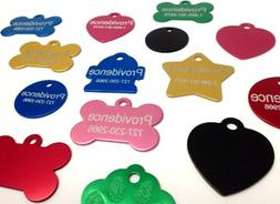 Anodized Pet ID Tags - Choose from Bone, Round, Heart, Hydra