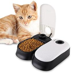 HaveGet Automatic Pet Feeder 2 Meal Timer Feeder Dispenses E
