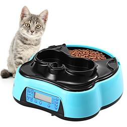 Sailnovo Automatic Pet Feeder 4 Meals Programmable Cat Feede