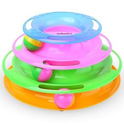 Ohuhu Ball Track for Kitten, Interactive Toys for Kitten wit