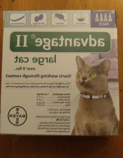 Bayer Advantage II for Large Cats over 9 Lbs - 4 Pack -  FLE