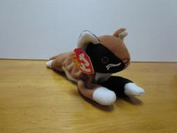 Ty Beanie Babies Chip the Cat, 1996, PVC Pellets, Mint w/ Ta