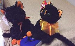 TY Beanie Babies, Moonlight & Fraidy , New, HTF & MWMT for H