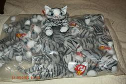 BEANIE BABIES PRANCE THE CAT  RETIRED NWMT/SLEEVE OF 12 NEW