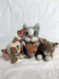 beanie baby cats chip prance snip pounce