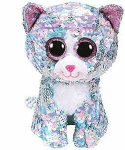 Ty Beanie Boos Flippables Whimsy Blue Cat Sequin Plush Stuff