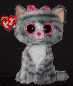 "TY BEANIE BOOS - KIKI the 6"" CAT - MINT with MINT TAGS"
