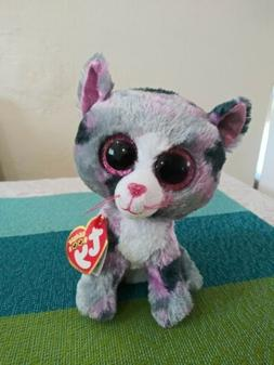 "TY Beanie Boos Lindi the Cat 6"" 2016 plush animal"
