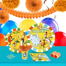 Dr. Seuss 1st Birthday Party Pack for 16 Guest
