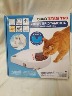 Cat Mate C300 Auto 3 Meal Feeder  Digital Timer for Cats w/
