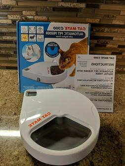 Cat Mate C300 Automatic 3 Meal Pet Feeder  Digital Timer for