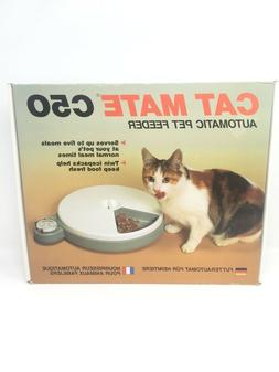 c50 automatic pet feeder five meals new