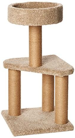 AmazonBasics Cat Activity Tree with Scratching Posts, Medium