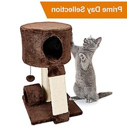 Animals Favorite Cat Condo Perch, Cat Tree with Scratch Post