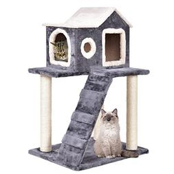 """TANGKULA 36"""" Cat Kitty Tree Tower Condo Furniture with Scrat"""