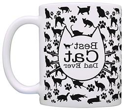 Cat Lover Gifts Best Cat Dad Ever Kitty Pattern Rescue Cat G