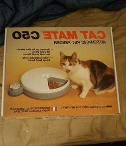 Cat Mate C50 Automatic Pet Feeder Serves Meals For Cats/Smal
